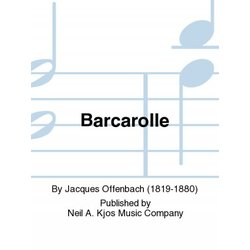 Barcarolle (From Tales of Hoffman) - Saxophone Duet