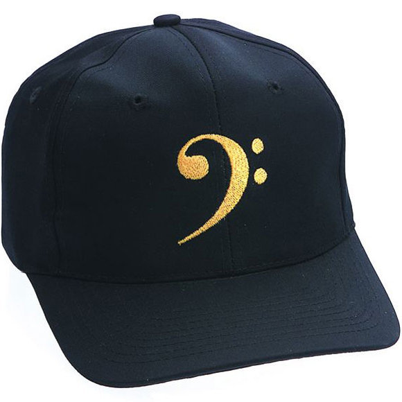 View larger image of Bass Clef Hat - Black/Gold