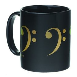 Bass Clef Mug - Black/Gold