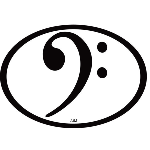 View larger image of Bass Clef Oval Magnet