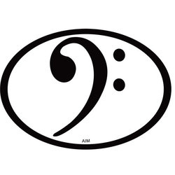 Bass Clef Oval Magnet