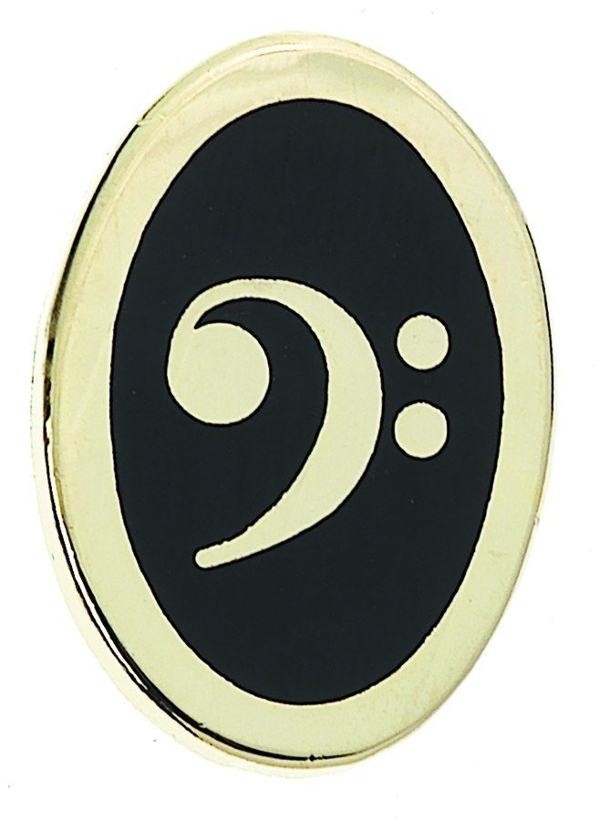 View larger image of Bass Clef Pin - Oval