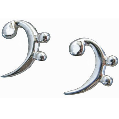 View larger image of Bass Clef Sterling Silver Earrings