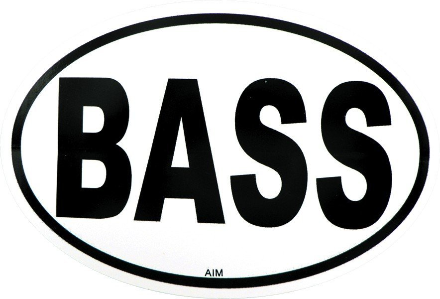 View larger image of Bass Sticker - Oval