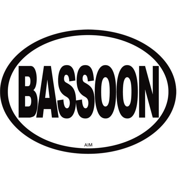 View larger image of Bassoon Oval Magnet