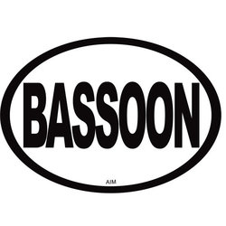 Bassoon Oval Magnet