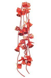 View larger image of Beaded Bells Garland with Presents  - Red