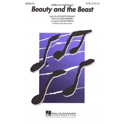 Beauty and the Beast (Medley) - SATB, Parts