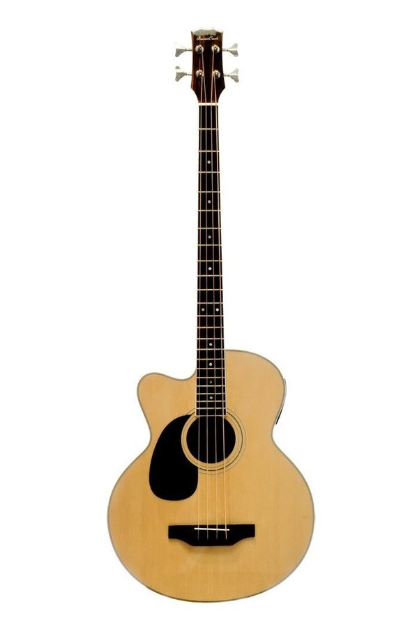 View larger image of BeaverCreek BCB05LCE Acoustic-Electric Bass Guitar - Natural, Left Handed