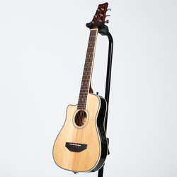 BeaverCreek BCRB501LCE Travel Size Acoustic-Electric Guitar - Natural, Left Handed