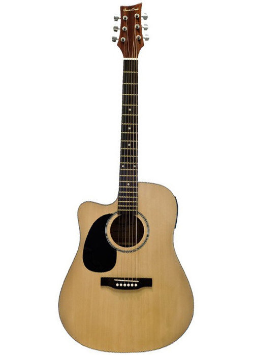 View larger image of BeaverCreek BCTD101 Dreadnought Acoustic-Electric Guitar - Natrual, Left Handed