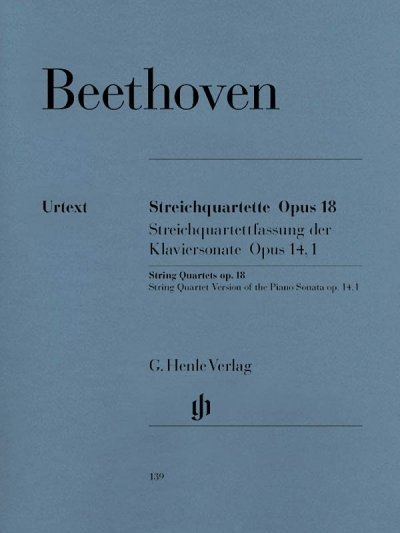View larger image of Beethovben String Quartets Op. 18 and String Quartet Version of the Piano Sonata Op. 14