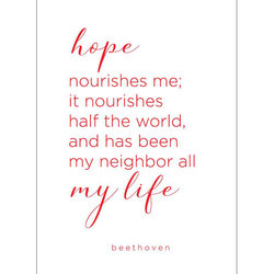 Beethoven Quote Greeting Card