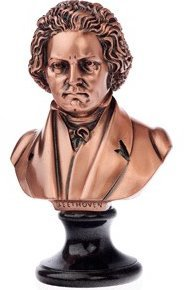 View larger image of Beethoven Sculpture - Bronze, Large, 9x6