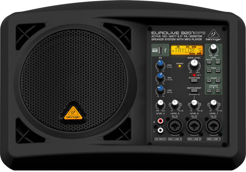 View larger image of Behringer Eurolive B206MP3 Active PA/Monitor Speaker System with MP3 Player
