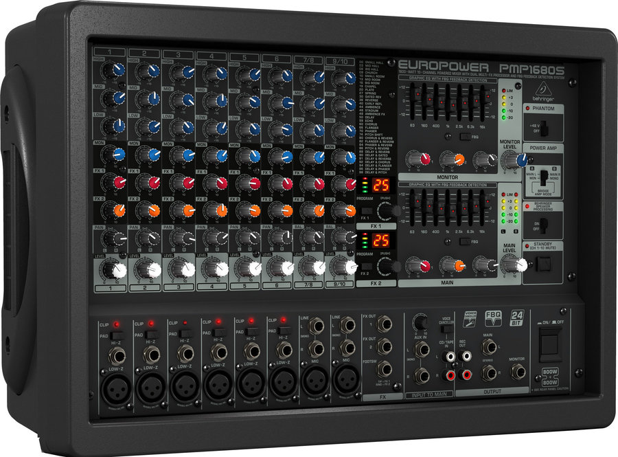View larger image of Behringer Europower PMP1680S 10-Channel Powered Mixer