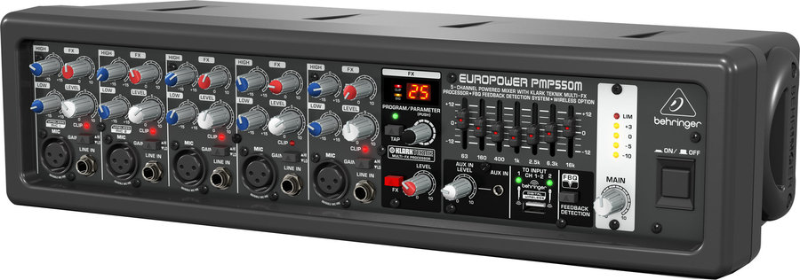 View larger image of Behringer PMP550M Europower 5-Channel Powered Mixer