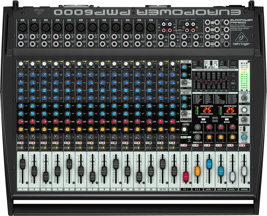 View larger image of Behringer Europower PMP56000 20 Channel Powered Mixer