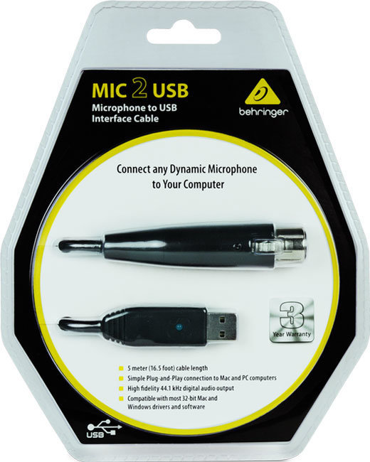 View larger image of Behringer MIC 2 USB Audio Interface Cable