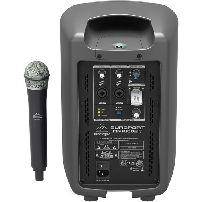 View larger image of Behringer MPA100BT Portable PA System with Wireless Microphone