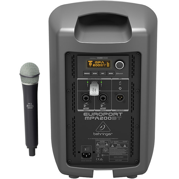 View larger image of Behringer MPA200BT All-in-One Portable Speaker with Wireless Microphone