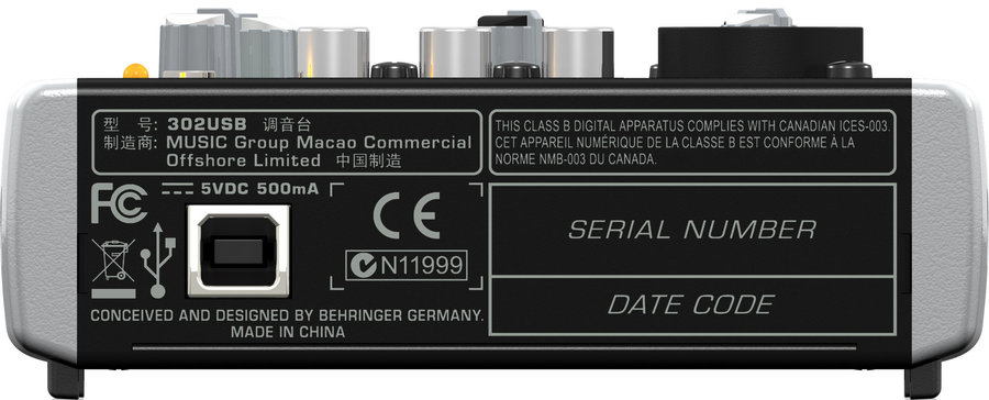 View larger image of Behringer Premium 5-Input Mixer with XENYX Mic Preamp and USB/Audio Interface