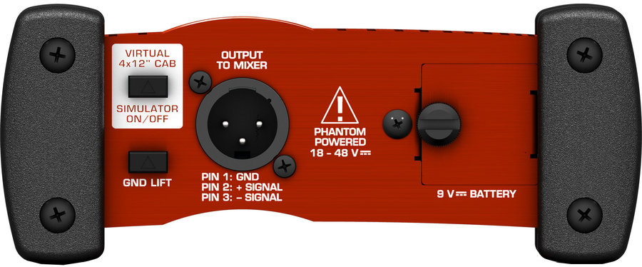 View larger image of Behringer Professional Battery/Phantom Powered DI-Box with Guitar Speaker Emulation