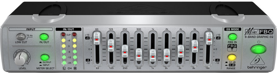 View larger image of Behringer Ultra-Compact 9-Band Graphic Equalizer with FBQ
