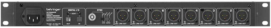 View larger image of Behringer UltraGain Digital Audiophile 8 In/8 Out ADAT Audio Interface
