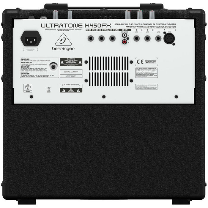 View larger image of Behringer UltraTone K450FX 45W PA System/Keyboard Amp