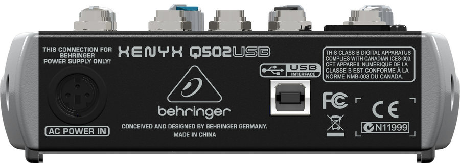 View larger image of Behringer Xenyx Q502USB 5-Input 2-Bus Mixer