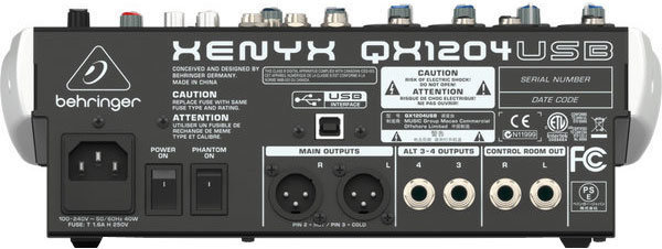 View larger image of Behringer Xenyx QX1204USB 12-Input 2/2 Bus Audio Interface Mixer