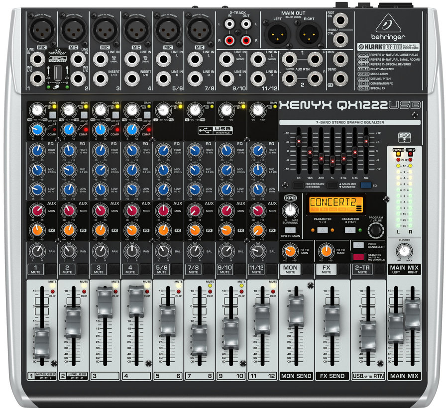 View larger image of Behringer Xenyx QX1222USB 16 Input 2/2/-Bus mixer