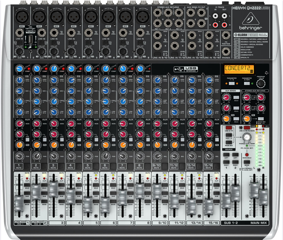 View larger image of Behringer Xenyx QX2222USB 22 Input 2/2 Bus Mixer