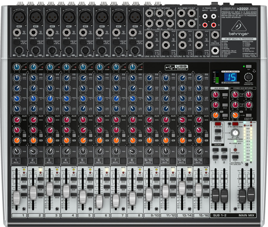 View larger image of Behringer  Xenyx X2222USB Premium 22-Input 2/2-Bus Mixer
