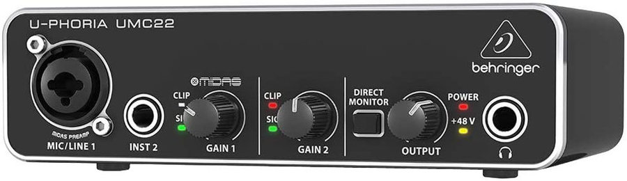 View larger image of Behringer Audiophile 2x2 USB Audio Interface with MIDAS Mic Preamplifier