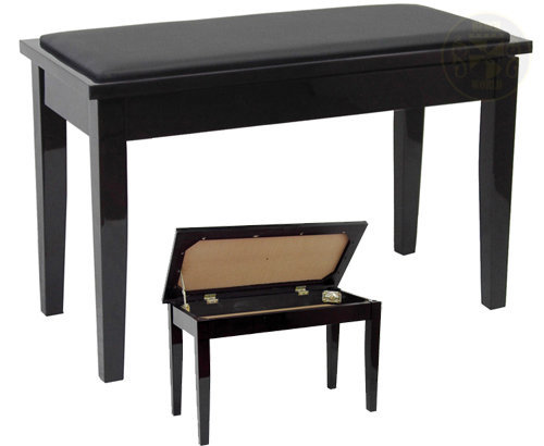 View larger image of Benchworld ACE202CPE Duet Piano Bench - 30, Padded, with Storage, Polished Ebony