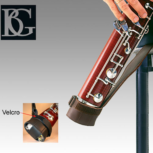 View larger image of BG France B06 Leather Brown Bassoon Strap with Adjustable Cap
