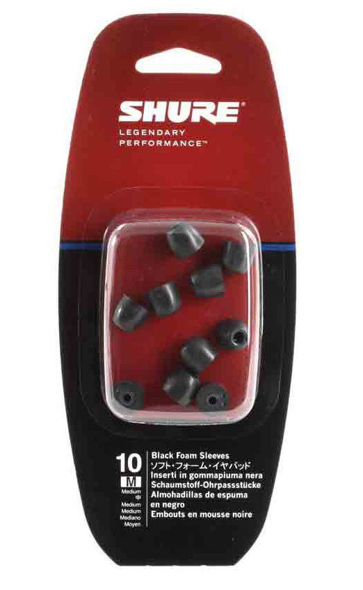 View larger image of Black Foam Sleeves for Shure Sound Isolating Earphones - Medium