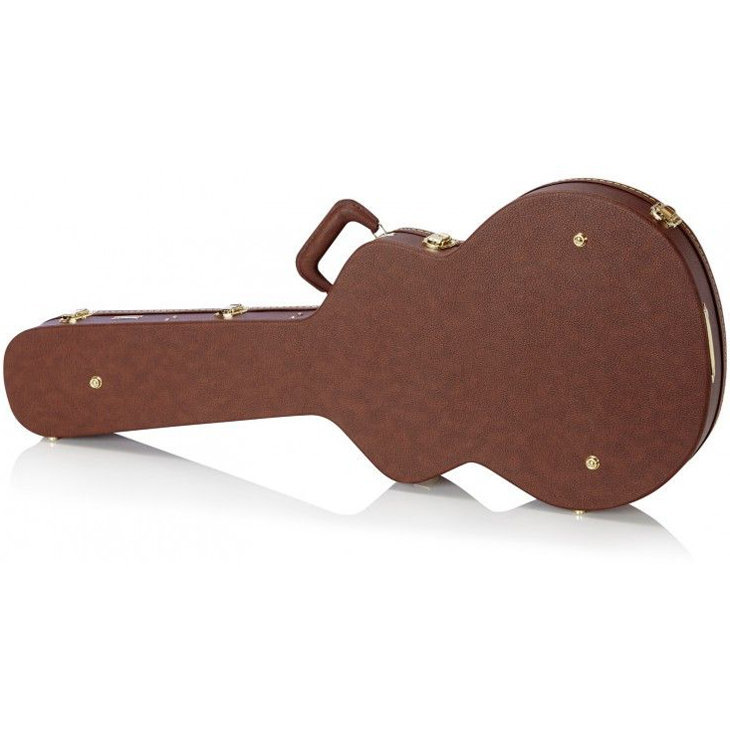View larger image of Boblen Dreadnought Acoustic Guitar Hardshell Case - Brown
