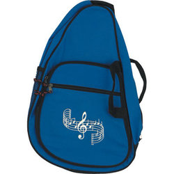 Body Backpack with G-Clef and Staff - Royal Blue
