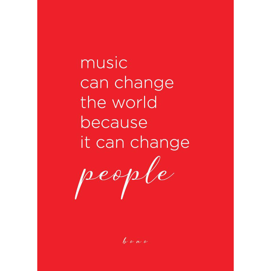View larger image of Bono Quote Greeting Card
