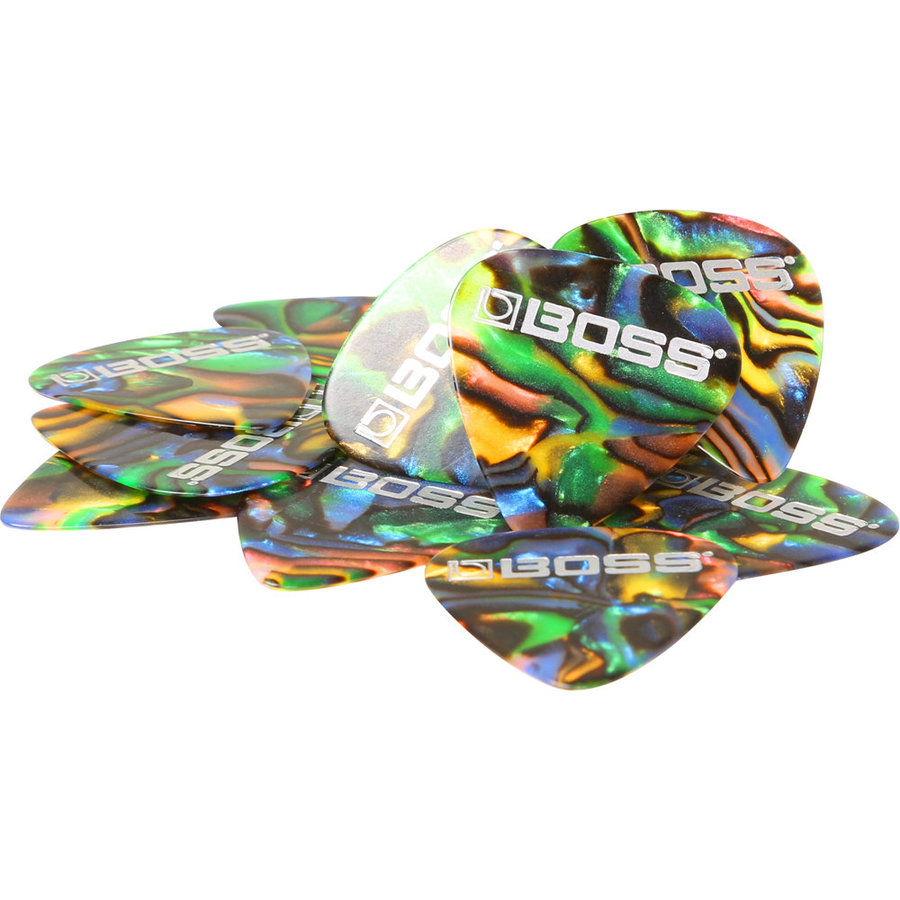 View larger image of BOSS Abalone Celluloid Guitar Picks - Thin, 12 Pack