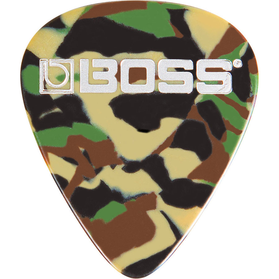 View larger image of BOSS Camo Celluloid Guitar Picks - Thin, 12 Pack
