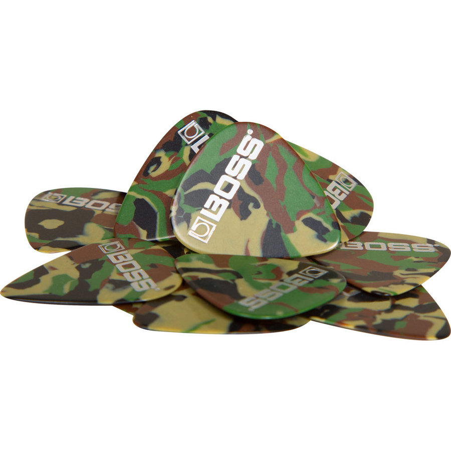View larger image of BOSS Camo Celluloid Guitar Picks - Thin, 72 Pack