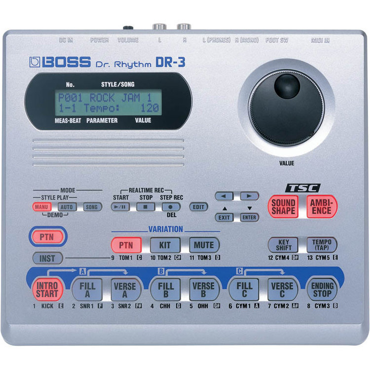 View larger image of BOSS DR-3 Dr. Rhythm Drum Machine