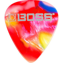 BOSS Mosaic Celluloid Guitar Picks - Medium, 12 Pack