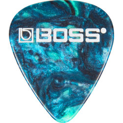 BOSS Ocean Turquoise Celluloid Guitar Picks - Thin, 12 Pack