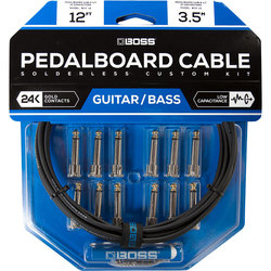 BOSS Solderless Pedalboard Cable Kit, 12 Connectors