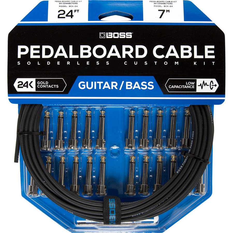 View larger image of BOSS Solderless Pedalboard Cable Kit, 24 Connectors